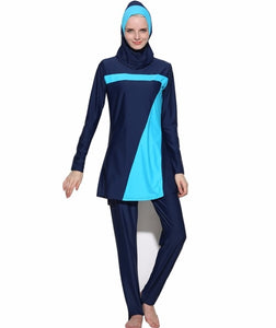 Navy and Turquoise Burkini - Chaddors