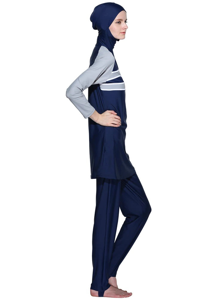 Gray and Navy Burkini - Chaddors