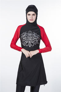 Red and Black Burkini - Chaddors