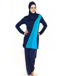 Turquoise Lines Design Burkini - Chaddors