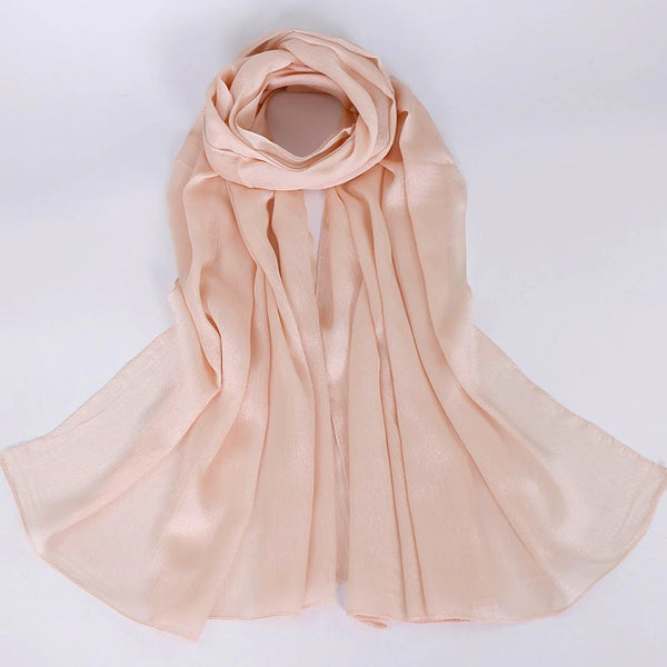 Silk Solid Hijabs + - Chaddors