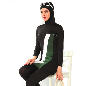 White Stripe Burkini - Chaddors