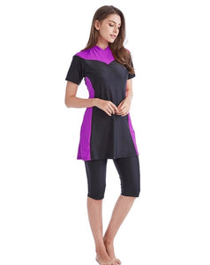 Purple and Black Burkini