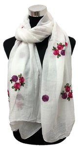 Garden Embroidery Hijabs + - Chaddors