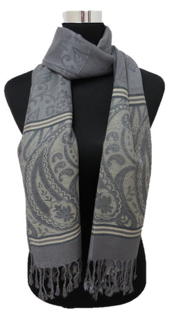 Shades of Gray Pashmina - Chaddors