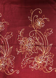 Maroon Sequence and Embroidery Pashmina