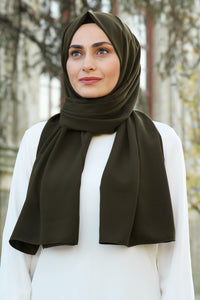 Army Green Medina Silk Hijab
