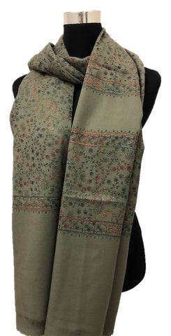 Gray Embroidered Shawl - Chaddors