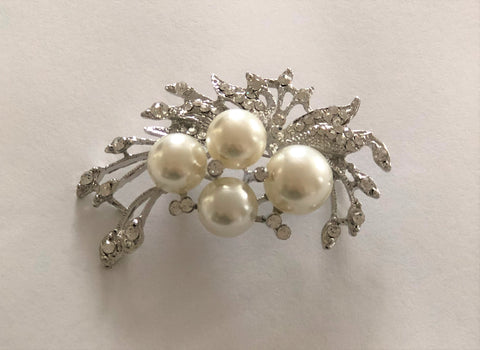 Silver Bouquet Brooch - Chaddors