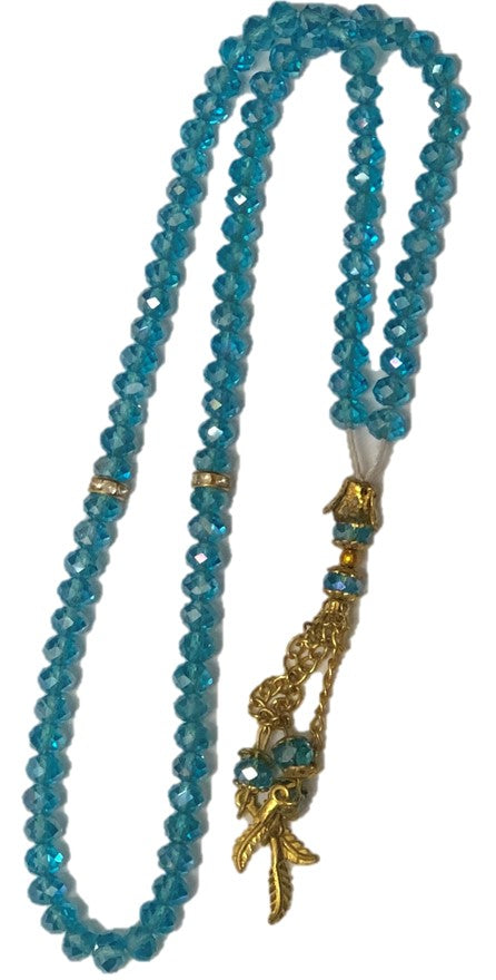 Turquoise Glass Beads Tasbeeh - Chaddors