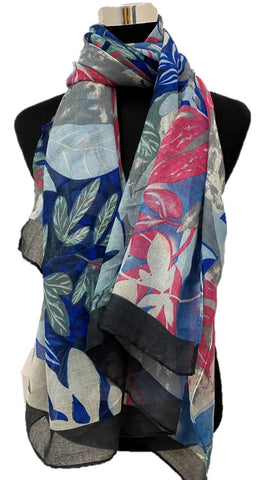 Blues Viscose Printed - Chaddors