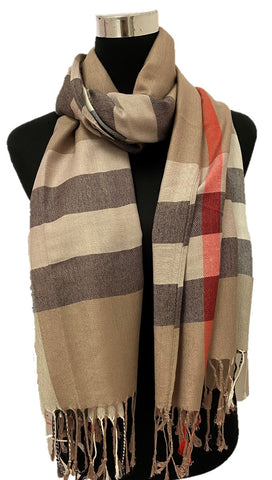 Taupe Burbs Scarf