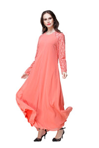 Peach Joint Flora Lace Dress - Chaddors