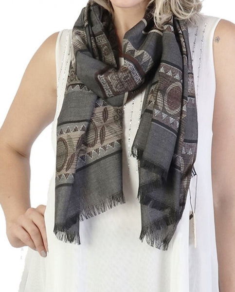 Abstract Viscose Scarf + - Chaddors