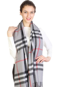 Grey Cashmere Plaid - Chaddors