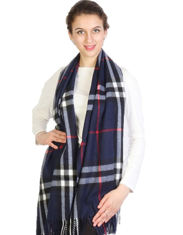 Navy Cashmere Plaid