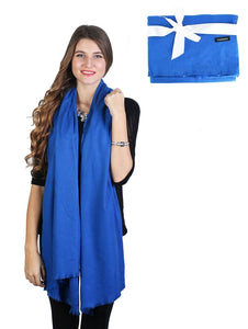 Royal Blue Cashmere Shawl - Chaddors