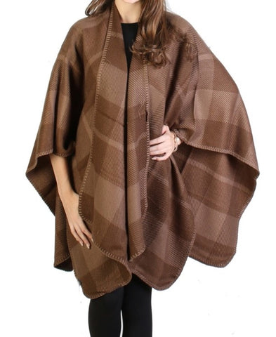 Brown Plaid Cape - Chaddors