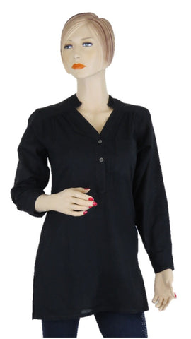 Black Tunic Top - Chaddors