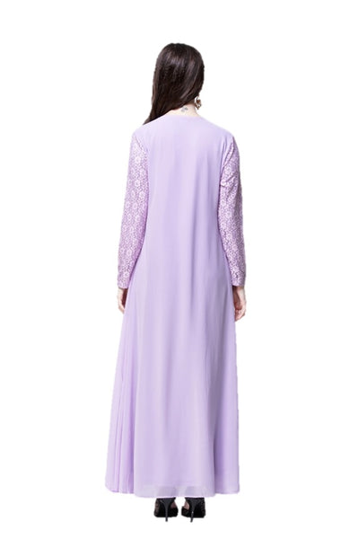 Mauve Joint Flora Lace Dress - Chaddors