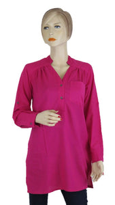 Fuschia Tunic Top - Chaddors