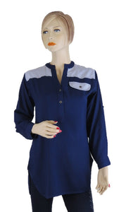 Navy Tunic Top - Chaddors