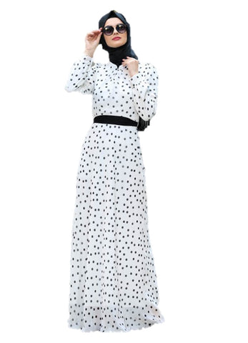 Polka Dots Turkish Dress - Chaddors