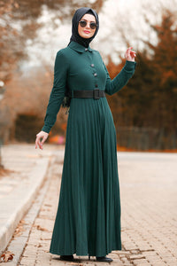Green Daily Wear Dress - Chaddors