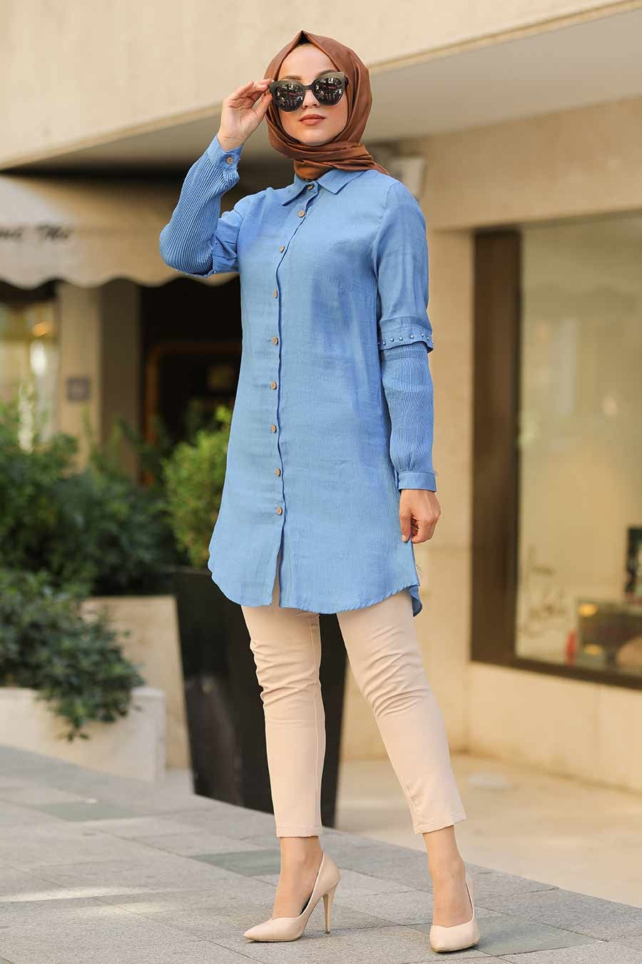 Ink Blue Turkish Tunic - Chaddors