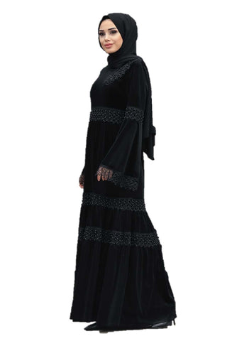 Black Velvet Turkish Dress