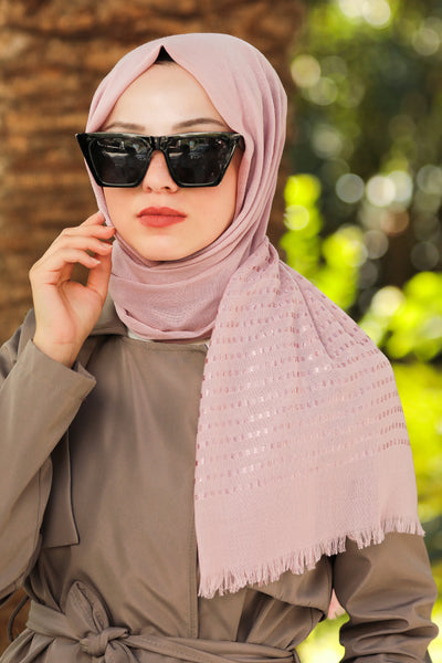 Pattern Border Turkish Hijab +