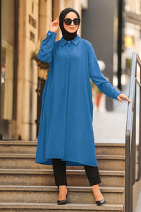 Blue Long Tunic