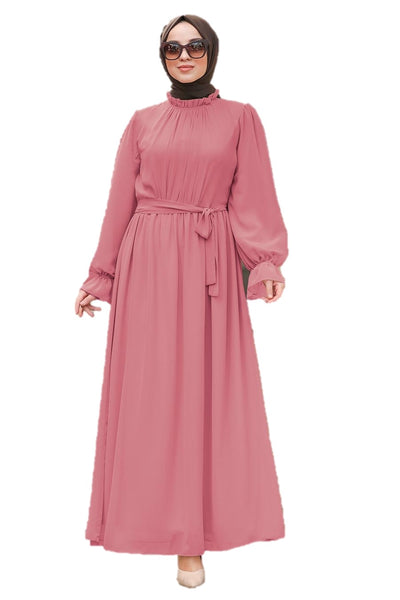 Pink Chiffon Dress - Chaddors