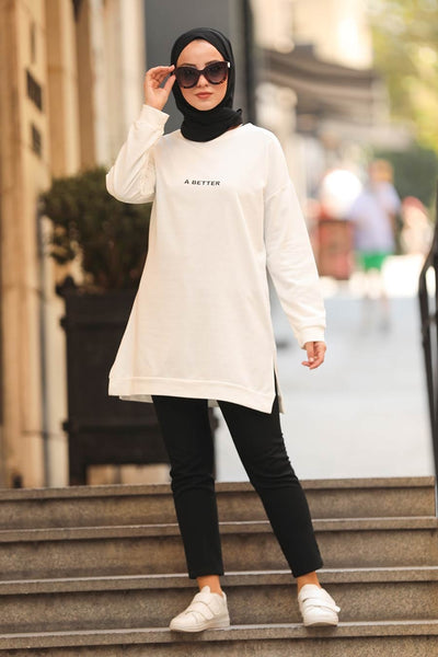 Off white Tunic Top