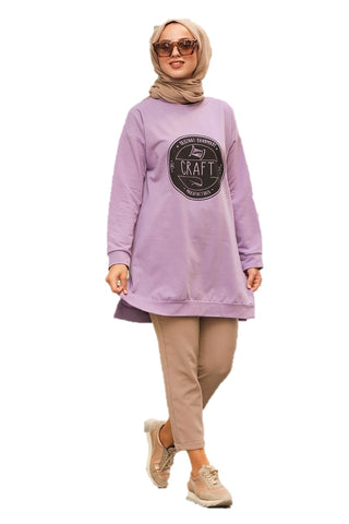 Lilac Craft Tunic Top