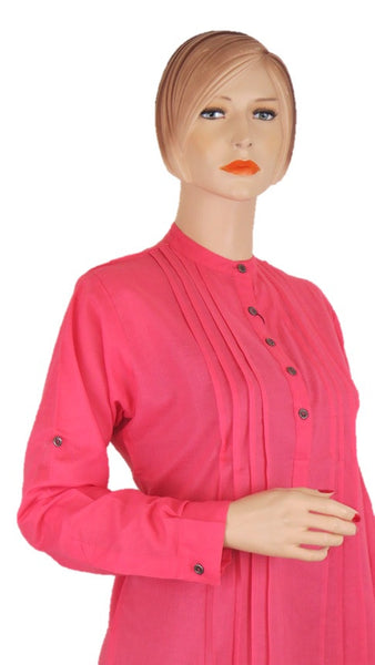 Pink Pleats Tunic Top - Chaddors