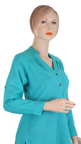 Turquoise Tunic Top - Chaddors