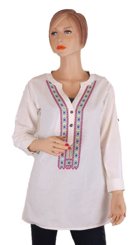 Embroidered Tunic Top - Chaddors