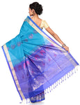 blue patli saree