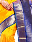 Saree For Wedding in Zari  (Yellow ) (MK202)