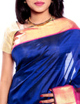 Indian Wedding Saree in Blue color  (MK203)