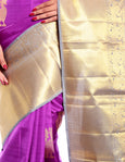 magenta kanchivaram saree