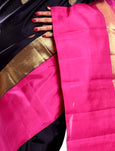 black kanchivaram saree