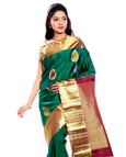 green kanchivaram saree