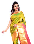 Light Green Kanchipuram Pure Silk Saree