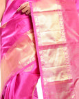 pink kanchivaram saree