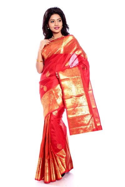 Red Kanchipuram saree online USA