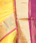 yellow kanchivaram saree