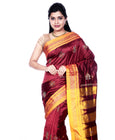 Dark Red Ilkal Saree Silk