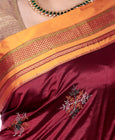 Ilka Saree Silk Dark Red